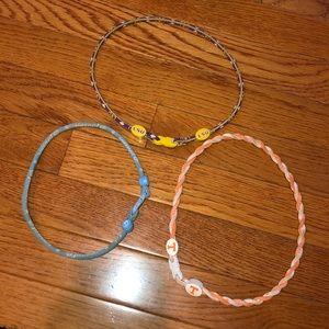 Bundle of phiten necklaces